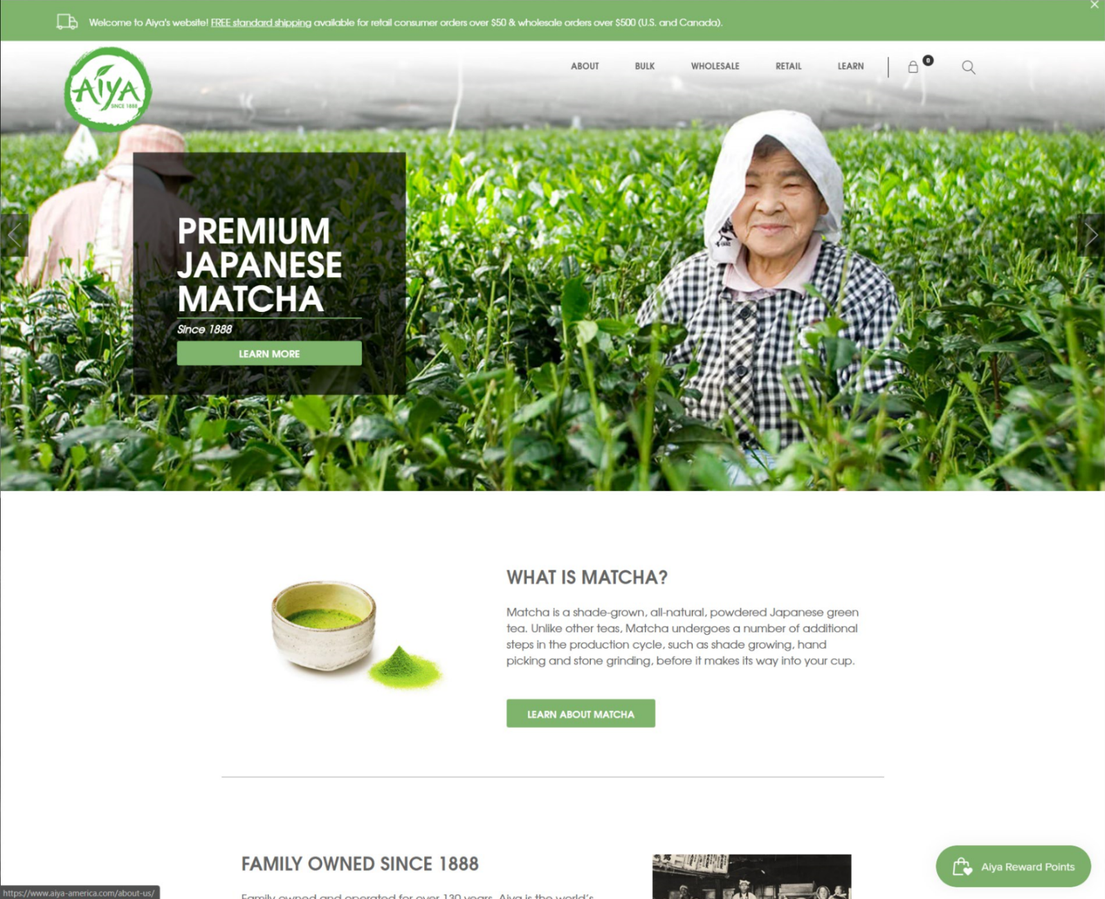 Aiya America Matcha Tea